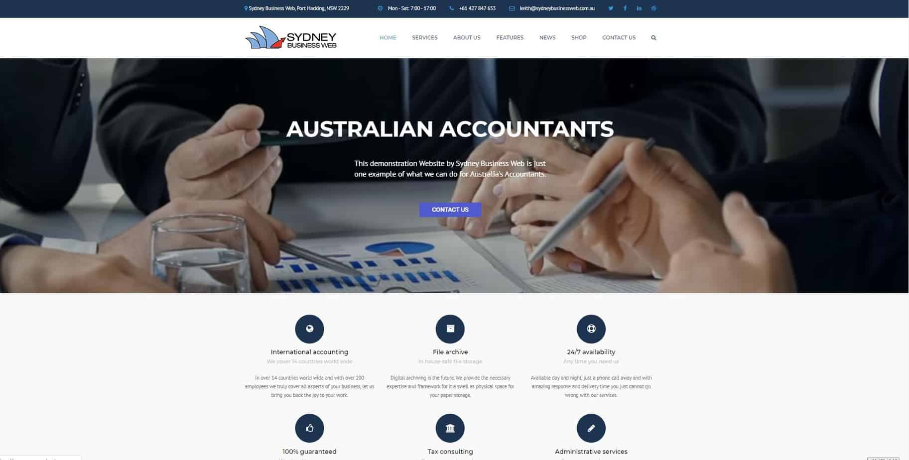 Accounts Website