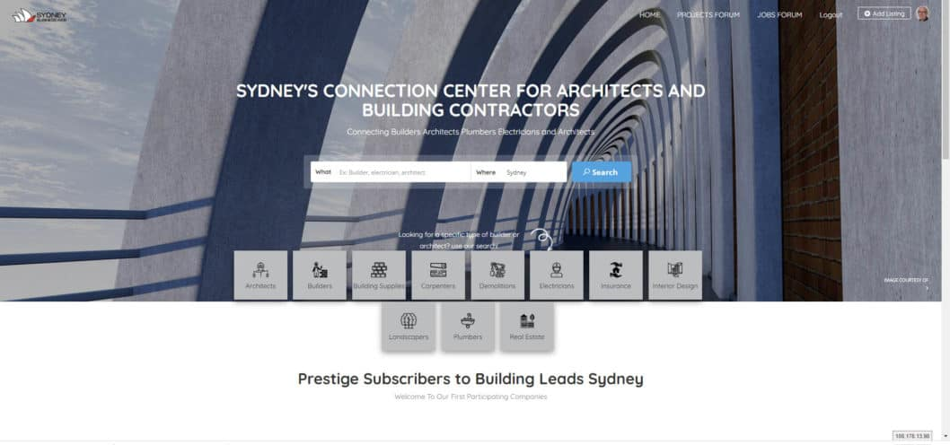Online Strategies for the Building Industry