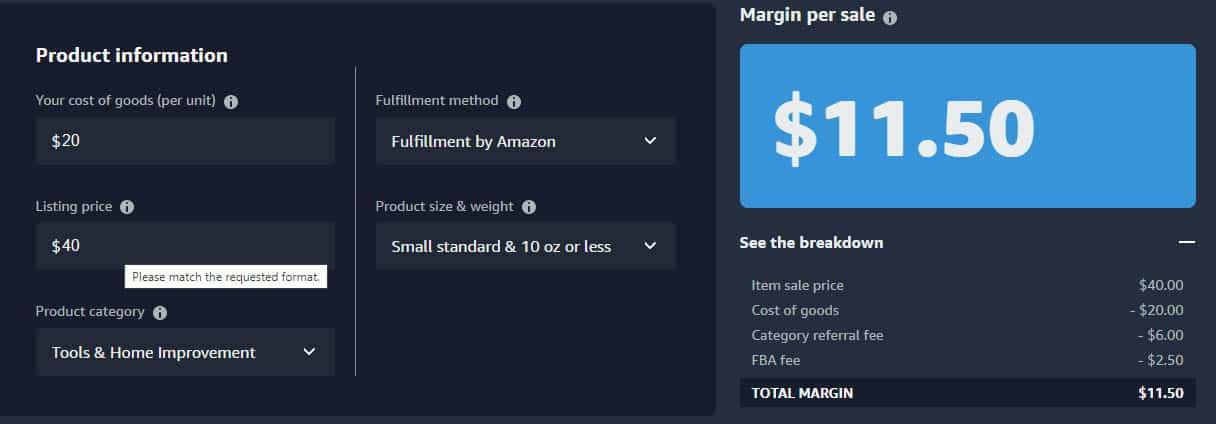 Amazon margins