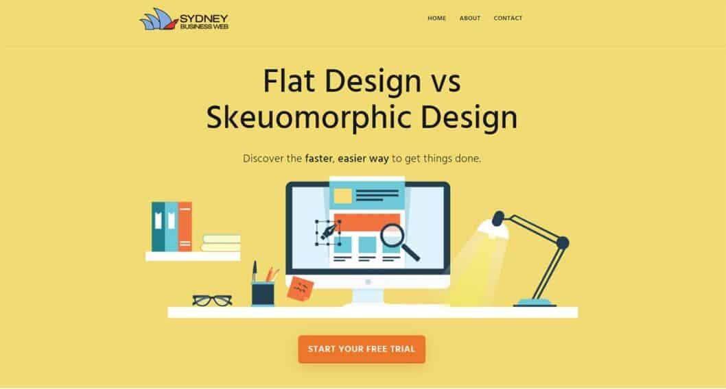 Flat design vs Skeuomorphic design