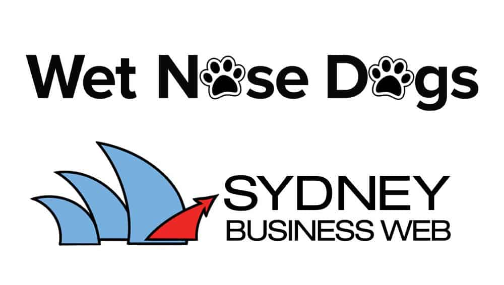 Wetnose dogs and Sydney Business Web Business  logos